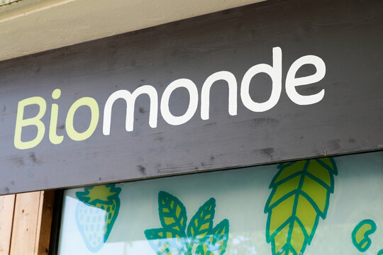 Bio Monde shop biological logo sign and text store front brand