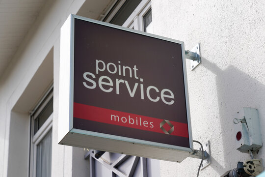 point service mobiles brand text and store logo sign for phone repair cell and smartphone shop