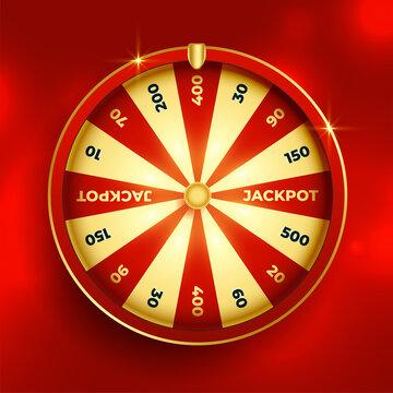 fortune wheel lottery luck element design