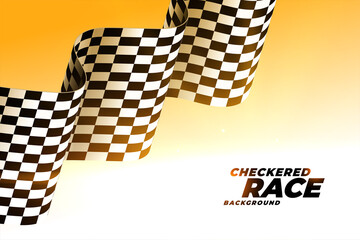 checkered wavy racing flag background