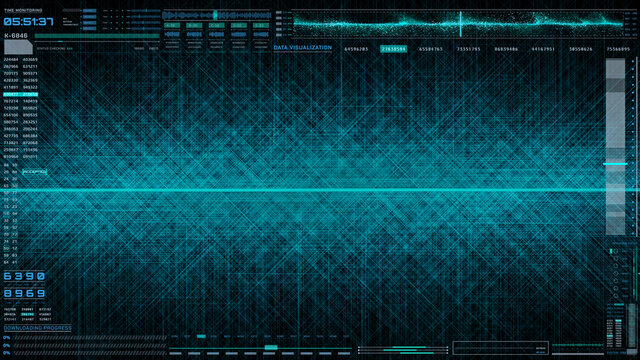 HUD Technology Futuristic Panel Green Science Data Transfer Communication Illustration Background