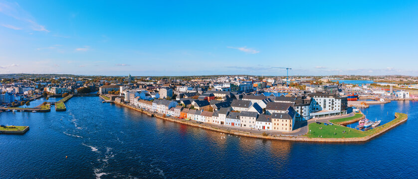 Aerial view of Galway Ireland