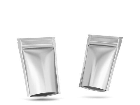 Blank zipper package mockup
