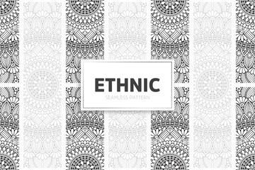 Fototapeta Seamless tribal texture geometric design obraz
