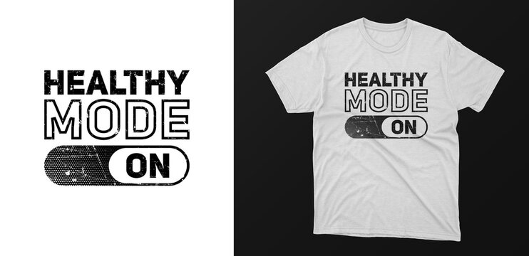 healthy typography t-shirt design. motivational quotes for success life