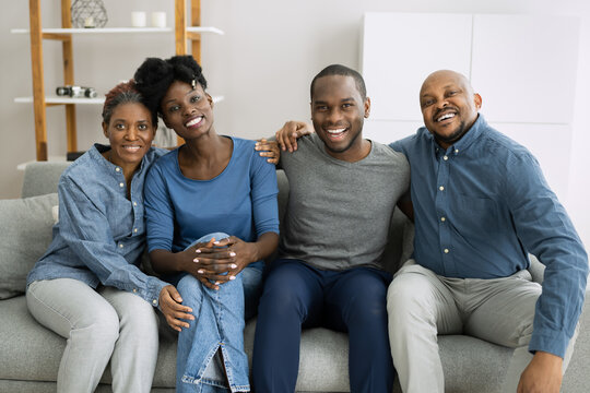 Group Of Happy African Family People
