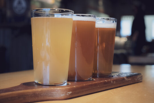 Beer Flights at a local brewery