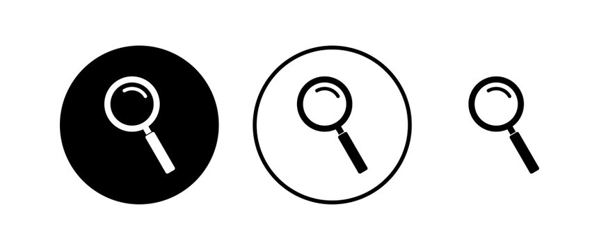 Search icons set. Glass vector icon. search magnifying glass icon. Find