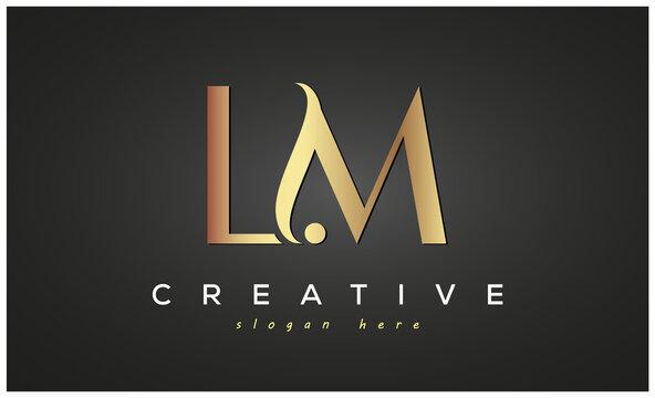 LM creative luxury logo design