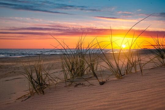 Sonnenaufgang, Sonnenuntergang an der Ostsee im Ostseebad Kühlungsborn