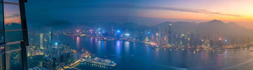 Fototapeta Hong Kong city skyline with Victoria Harbor view obraz
