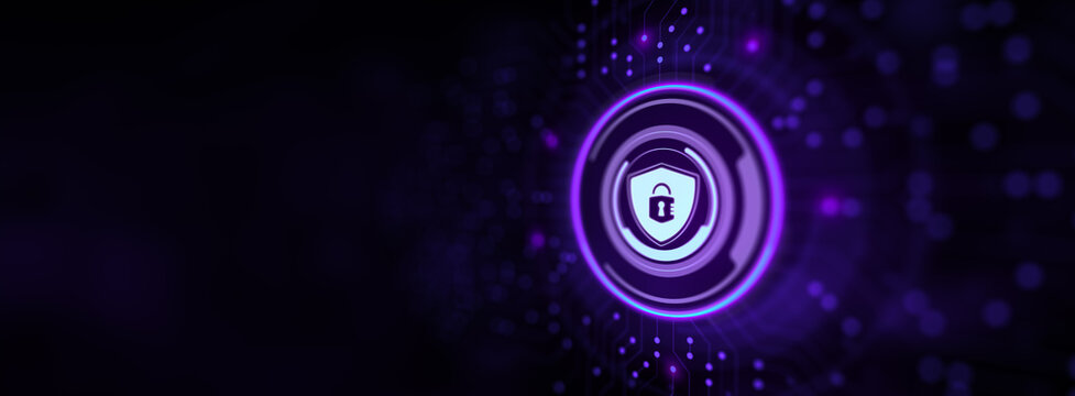 Cyber security data protection privacy policies.Technology concept