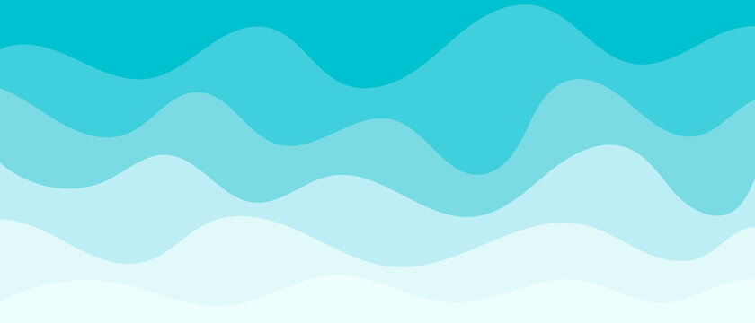 Background with waves of the sea, template for splash. Blue are trendy pastel shades for summer designs.
