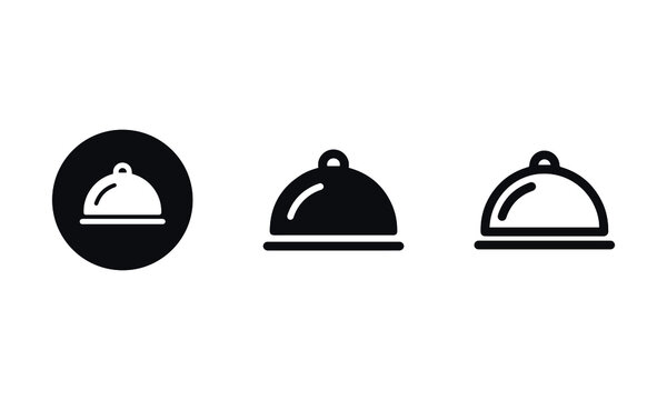 Food Serving Tray Icons vector design
