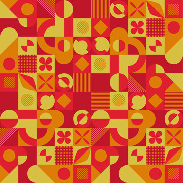 Abstract red and yellow geometric background