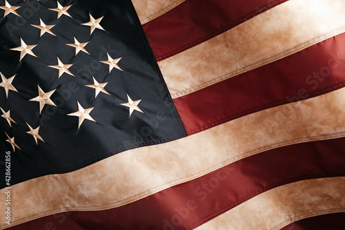 Patriotic background with vintage american flag. 4th of july, memorial or labor day