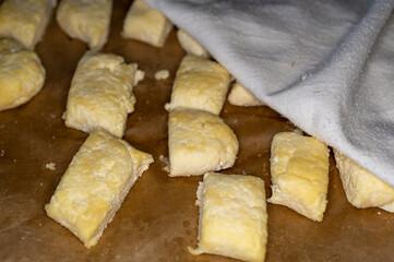 klusku leniwe z serem na tacy - fototapety na wymiar