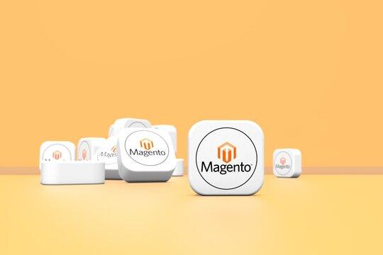 magento, social network background design