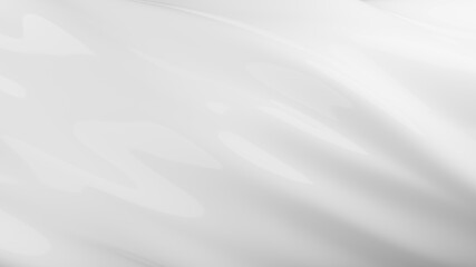 3D Rendering of glossy white smooth surface in wavy form. For luxury, cosmetic product background
