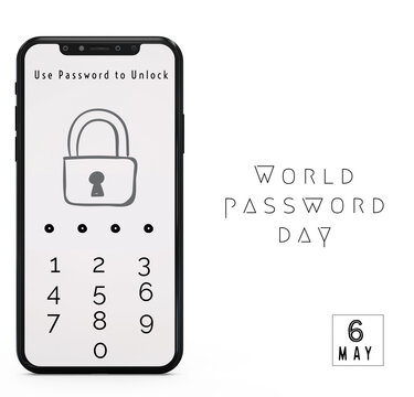phone with lock password for world password day