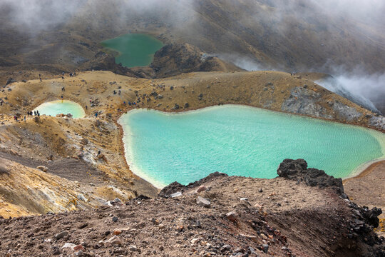 Tongariro Alpine Crossing Red Crater and Emerald Lakes