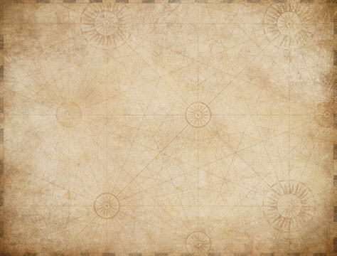 old nautical pirates treasure map background