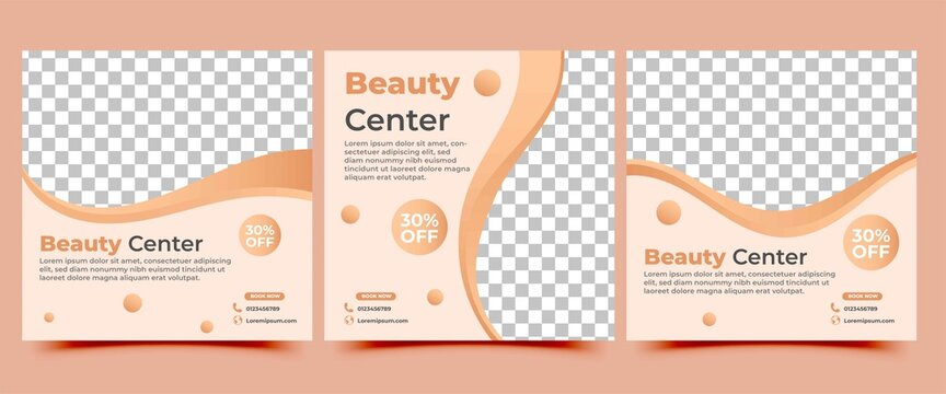 Spa and beauty square banner template collection. Usable for social media post, flyers, banners, and web.
