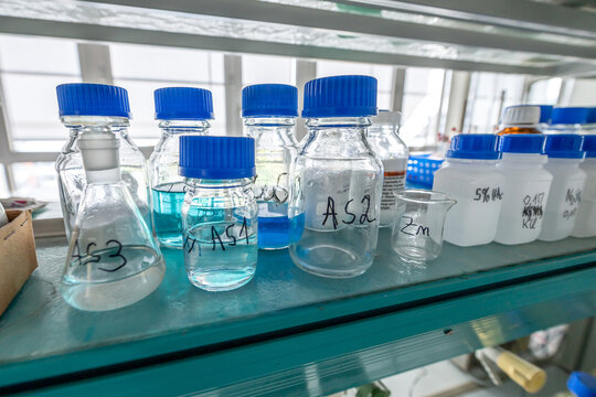 chemistry laboratories in science classroom interior of university college school empty Laboratory