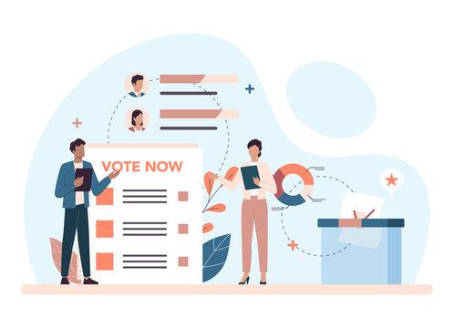 Politician concept. Idea of election and democratic governance.