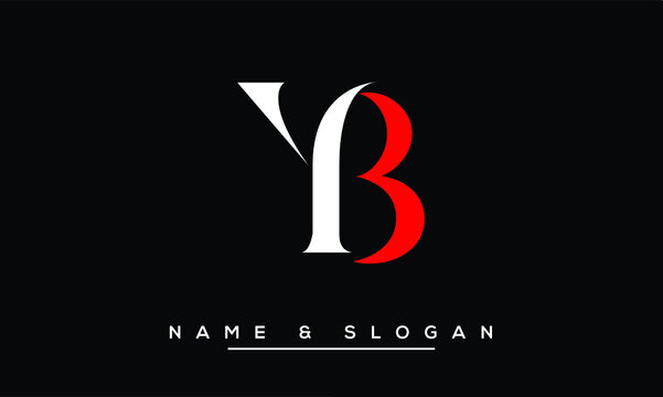 YB, BY, Y, B  Abstract Letters Logo Monogram