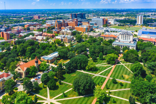 Aerial view of Columbus Ohio USA