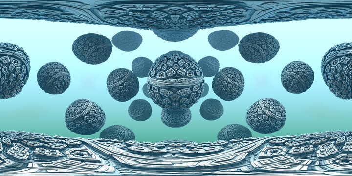 360 degree virtual abstract background, equirectangular projection, environment map. HDRI spherical panorama