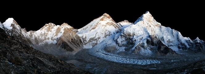 Mount Everest Lhotse and Nuptse night Himalaya mountain