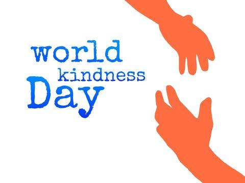 World kindness day illustration tex image