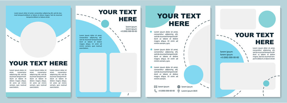 Fancy looking brochure template. Flyer, booklet, leaflet print, cover design with copy space. Business presentation. Vector layouts for magazines, annual reports, advertising posters