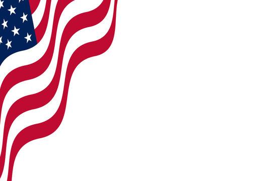 corner american flag background illustration graphic slide card