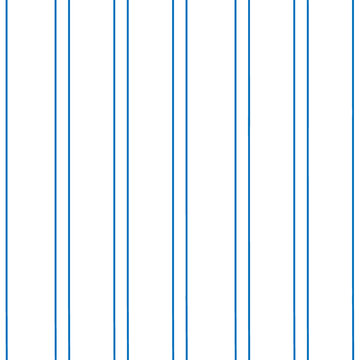 Seamless pattern with vertical blue  lines. Vector geometric on white background. Modern paintbrush lines for wrapping, wallpaper, textile