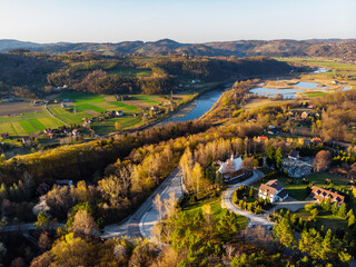 Fototapeta Jezioro Rożnowskie, Małopolska, Polska, Wiosna