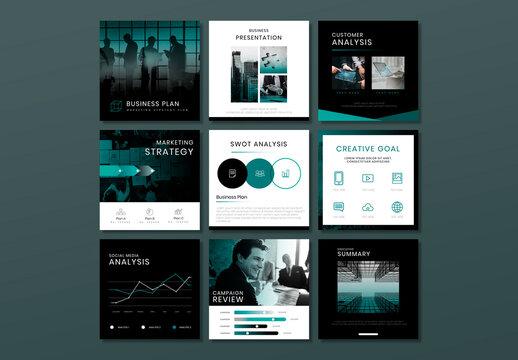 Business Marketing Plan Editable Layout Set