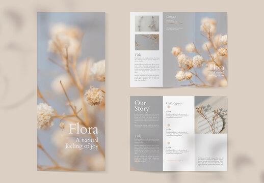Flower Shop Brochure Design Layout