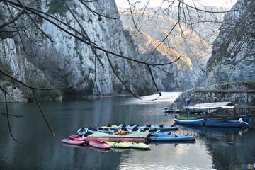 Fototapeta Matka Canyon in Skopje, Macedonia. Matka is one of the most popular outdoor destinations in Macedonia. obraz