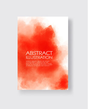 Bright red textures, abstract hand painted watercolor banner.