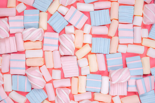 marshmallow pattern background, pastel color dessert, sweet food