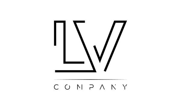 Letter LV creative logo design vector