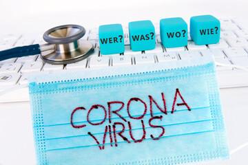 Obraz Coronavirus, Info, Maske - fototapety do salonu