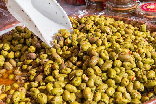 olives in market