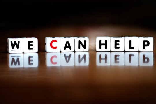 Words We Can Help Spelled in Block Letters Service Kindness Helpful