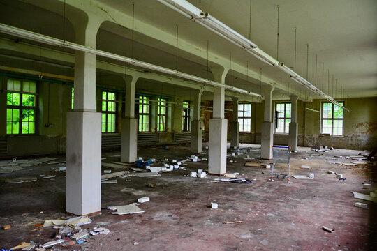 Eine alte, verlassene Fabrik aus der ehemaligen DDR