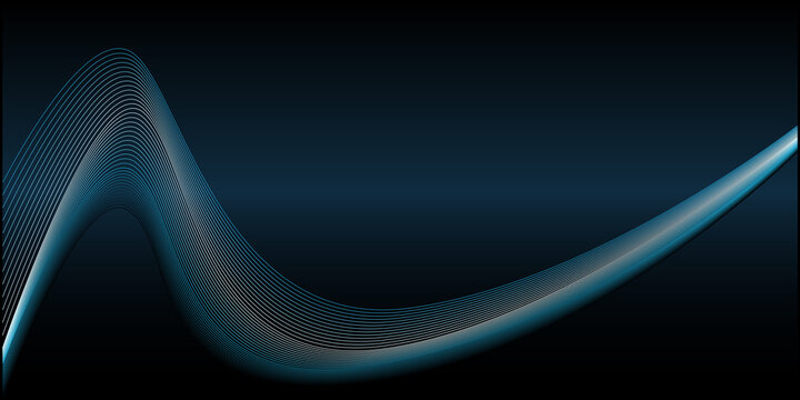 Blue lines abstract wave background. Vector illustration