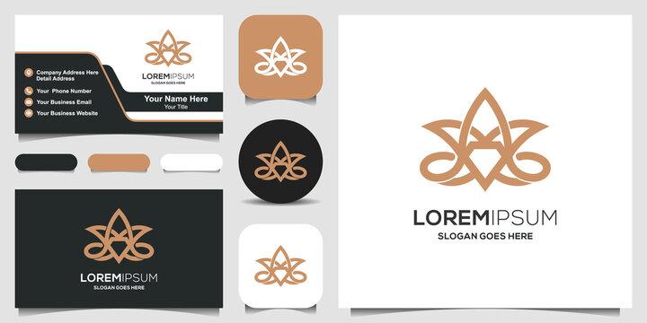 medical cannabis diamond logo and business card